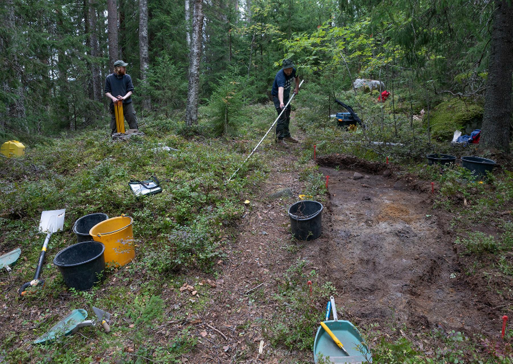 Havukkakallion muinaislinnan kaivauksissa löytö